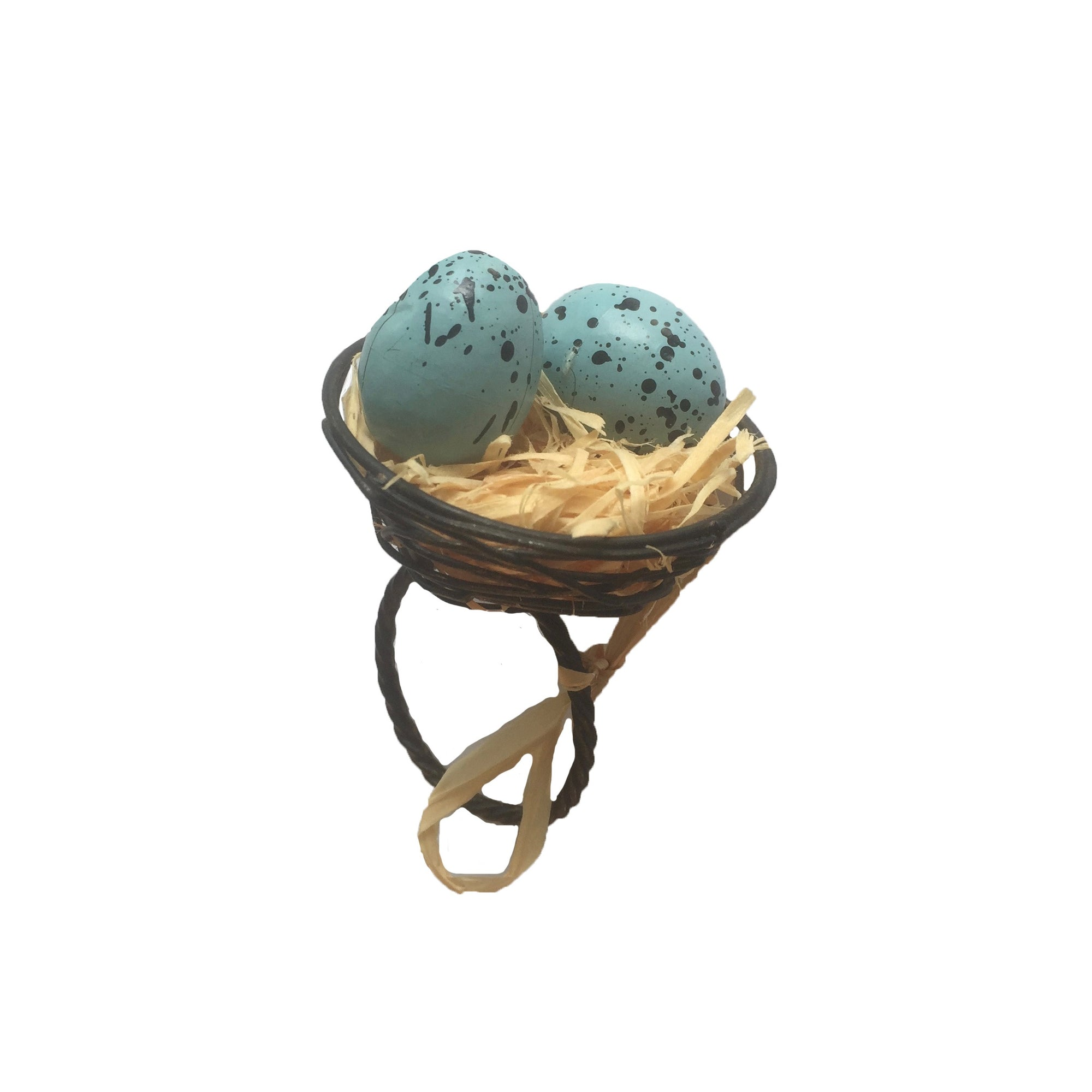 Robin's Egg Nest Napkin Ring, MP-Mud Pie, Putti Fine Furnishings