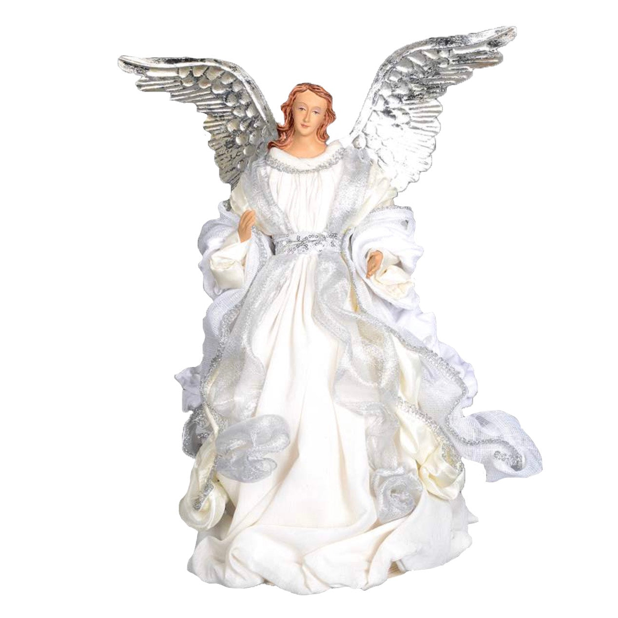 Angel with Cream Robes and Silver Wings