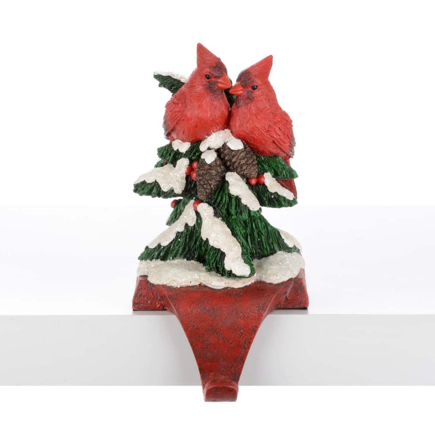 Cardinal Stocking Holder, CT-Christmas Tradition, Putti Fine Furnishings