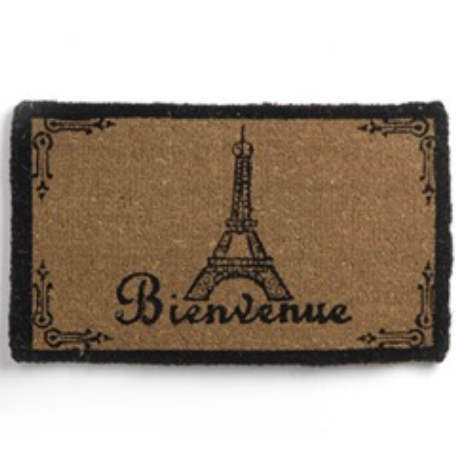 """Bienvenue"" Eiffel Tower Door Mat"