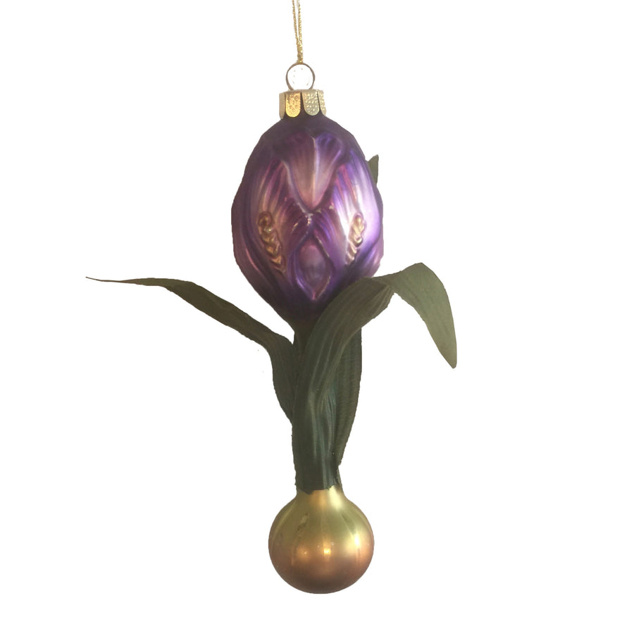 Hand Blown Glass Crocus Ornament