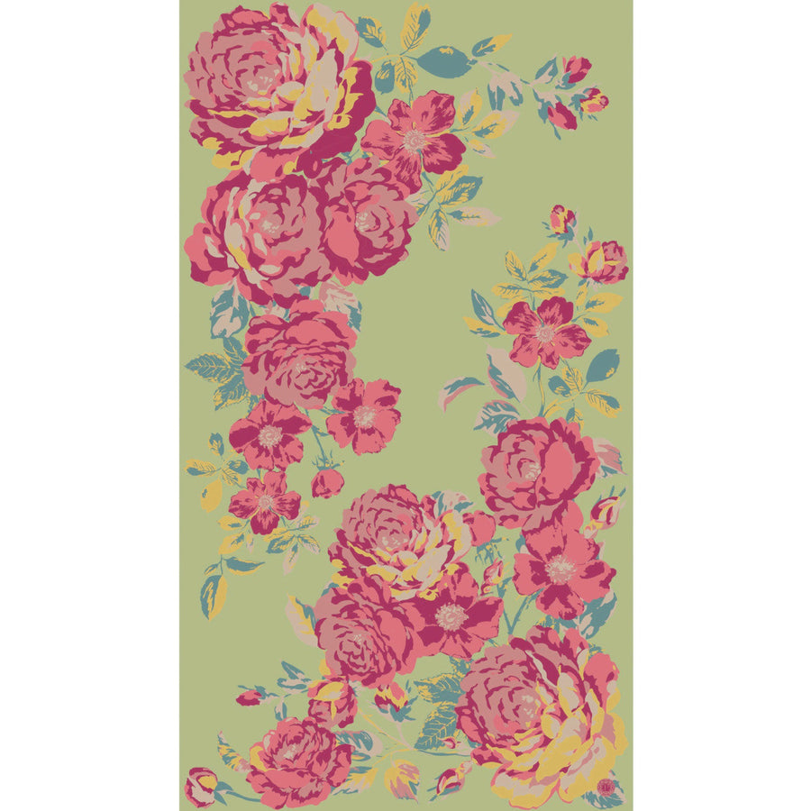 "Powder ""Vintage Roses"" Print Scarf - Lime, PDL-Powder Design Limited, Putti Fine Furnishings"