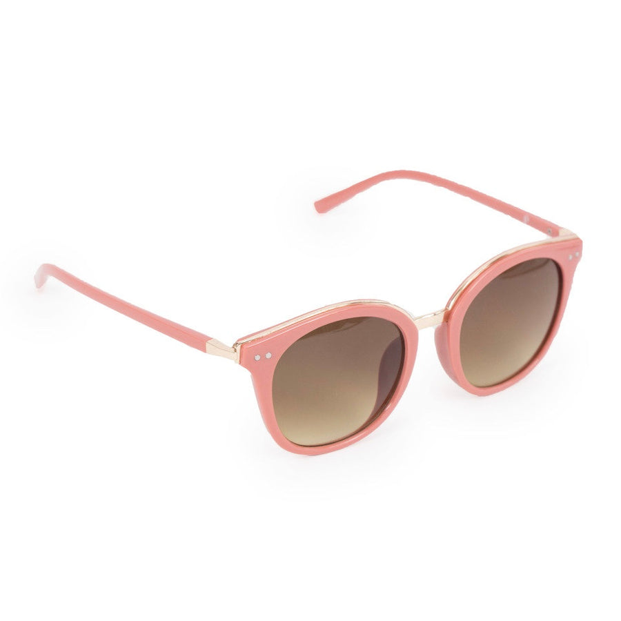 "Powder ""Adele"" Sunglasses - Coral and Gold"