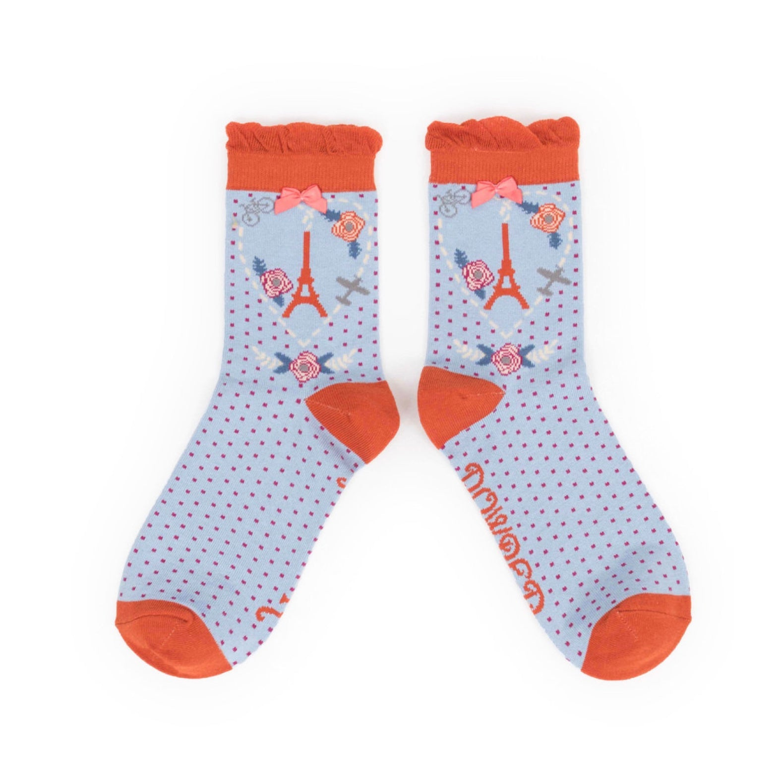 "Powder ""Parisian Scene"" Ankle Socks, PDL-Powder Design Limited, Putti Fine Furnishings"