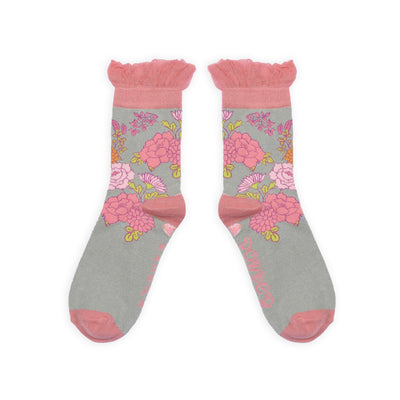 "Powder ""Oriental"" Ankle Socks - Grey, PDL-Powder Design Limited, Putti Fine Furnishings"