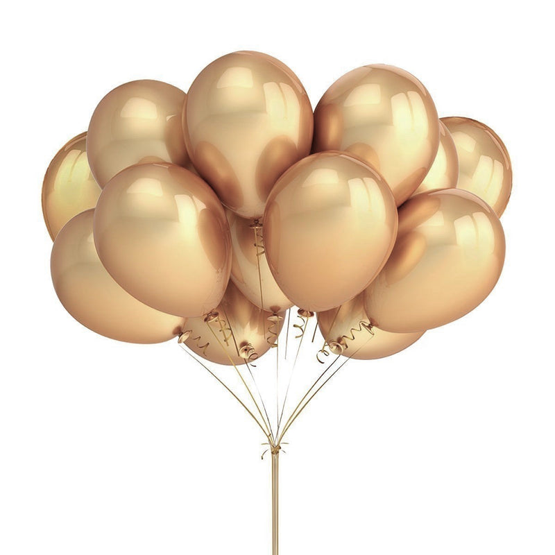 "Metallic Gold ""Chrome"" Balloons"