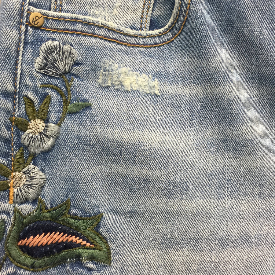 "Driftwood Jackie ""Enchanted"" Hand Embroidered Jeans"