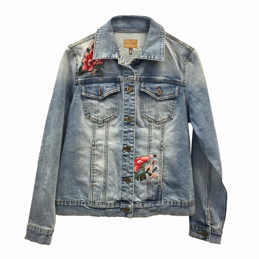 "Driftwood Geena ""Rio"" Hand Embroidered Jean Jacket"