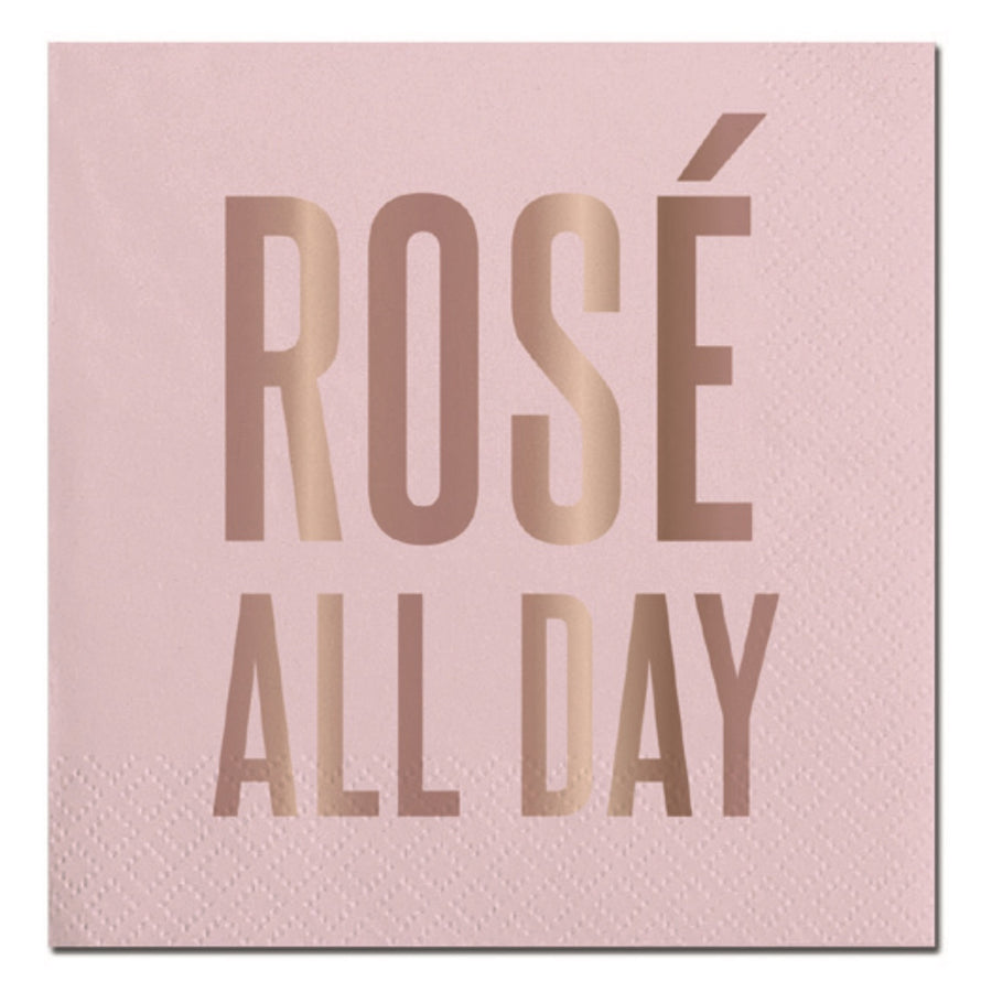 """Rose all Day"" Paper Napkins - Beverage, SC-Slant Collections, Putti Fine Furnishings"