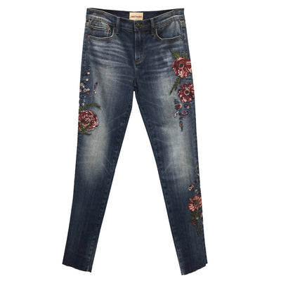 "Driftwood Audrey ""Razzel"" Jewelled Hand Embroidered Jeans"