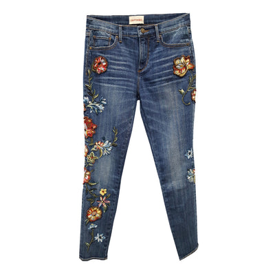 "Driftwood Jackie ""Vinyl"" Hand Embroidered Jeans"