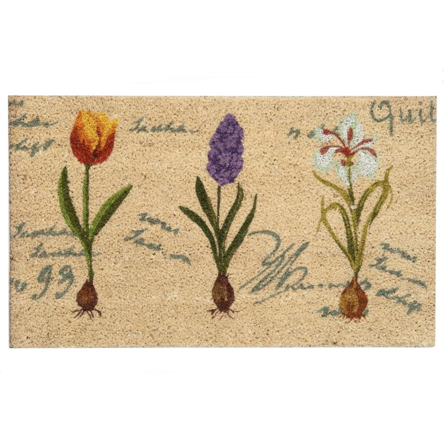 Spring Bulbs Floral Door Mat
