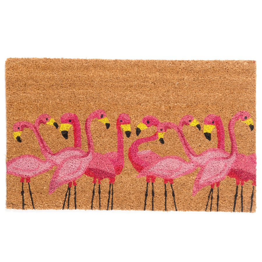 Flamingo Coir Door Mat