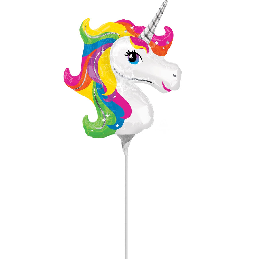 Mini Rainbow Unicorn Mylar Balloon