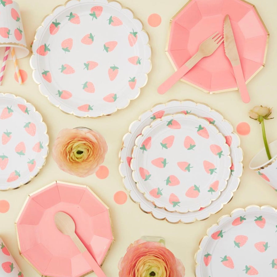 Meri Meri Strawberry Paper Plates - Small