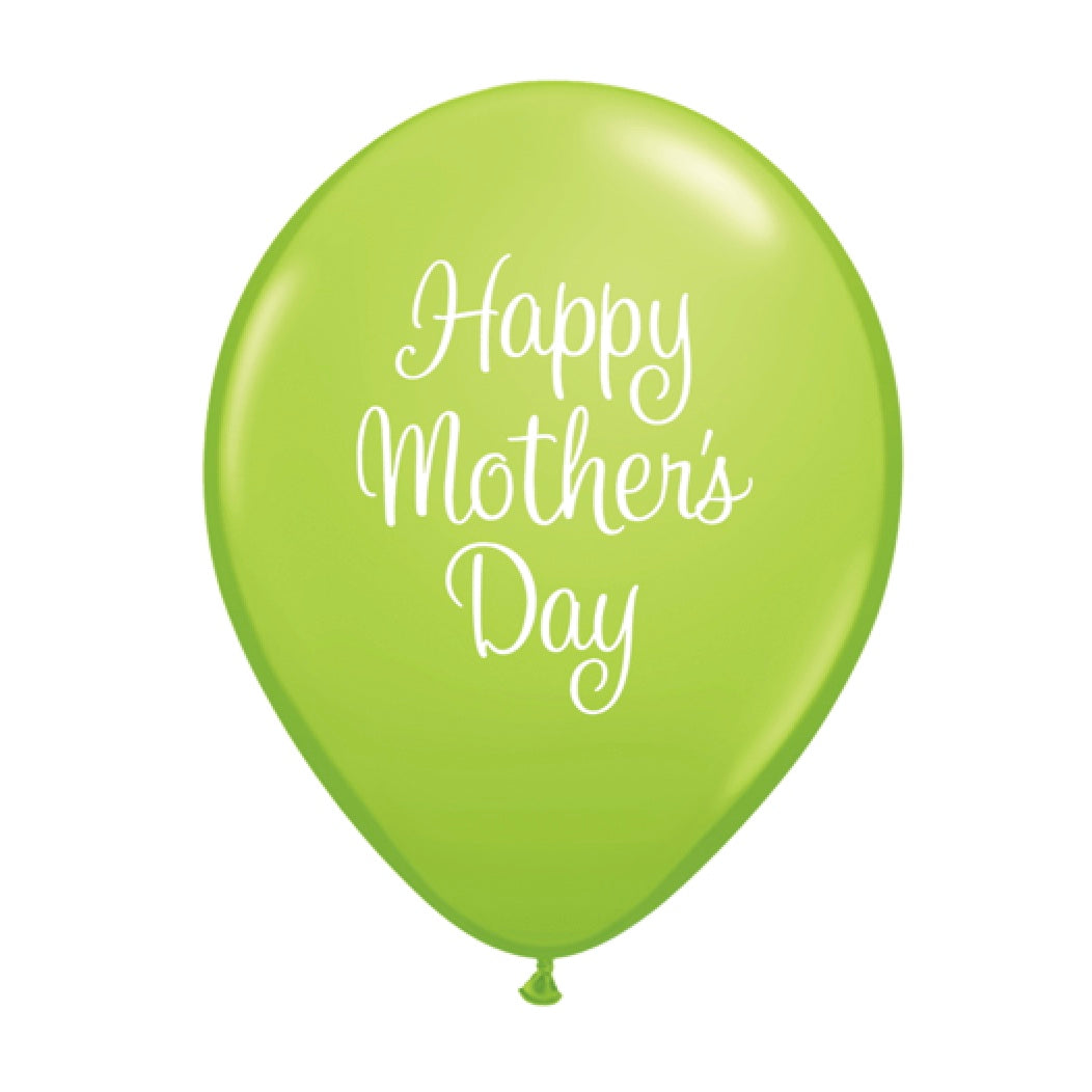 """Happy Mother's Day"" Script Balloon - Green"