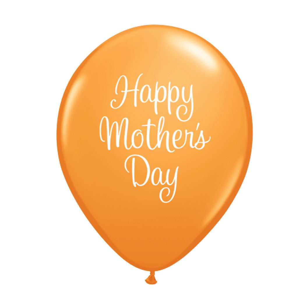 """Happy Mother's Day"" Script Balloon - Orange"