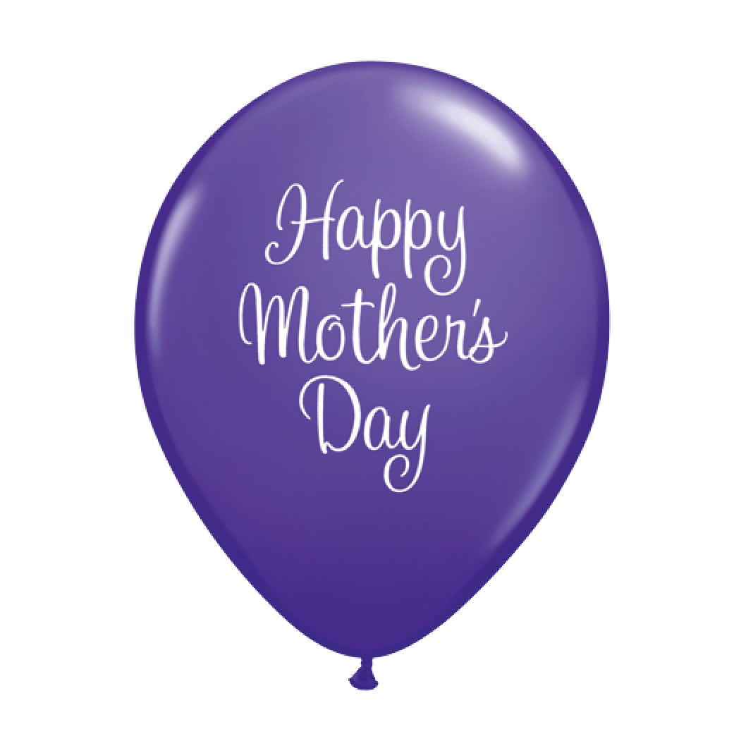 """Happy Mother's Day"" Script Balloon - Purple"