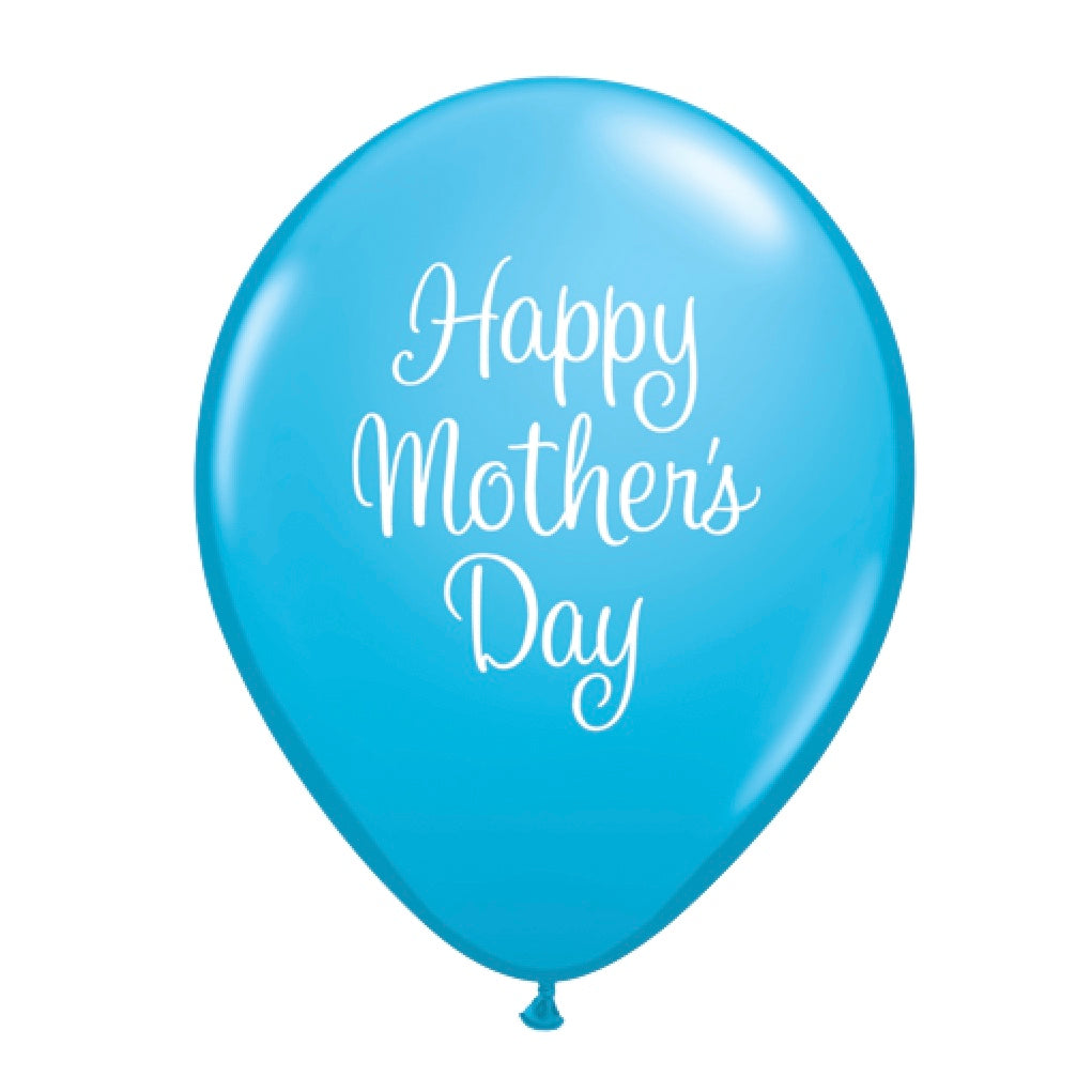 """Happy Mother's Day"" Script Balloon - Blue"