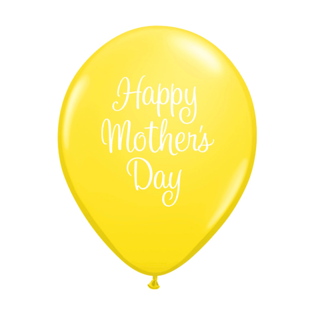 """Happy Mother's Day"" Script Balloon - Yellow"