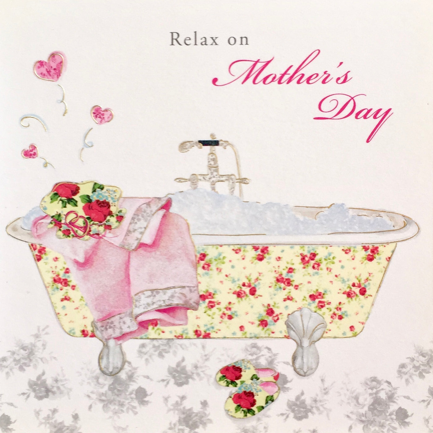 With All My Love On Mothers Day Bicycle Card Putti Fine Furnishings