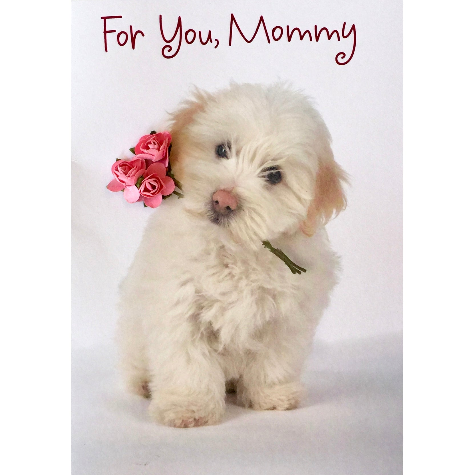 """For You Mommy"" Mother's Day Puppy Greeting Card"
