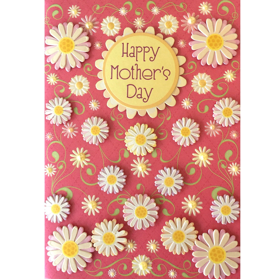 """Happy Mother's Day"" Daisy Greeting Card"
