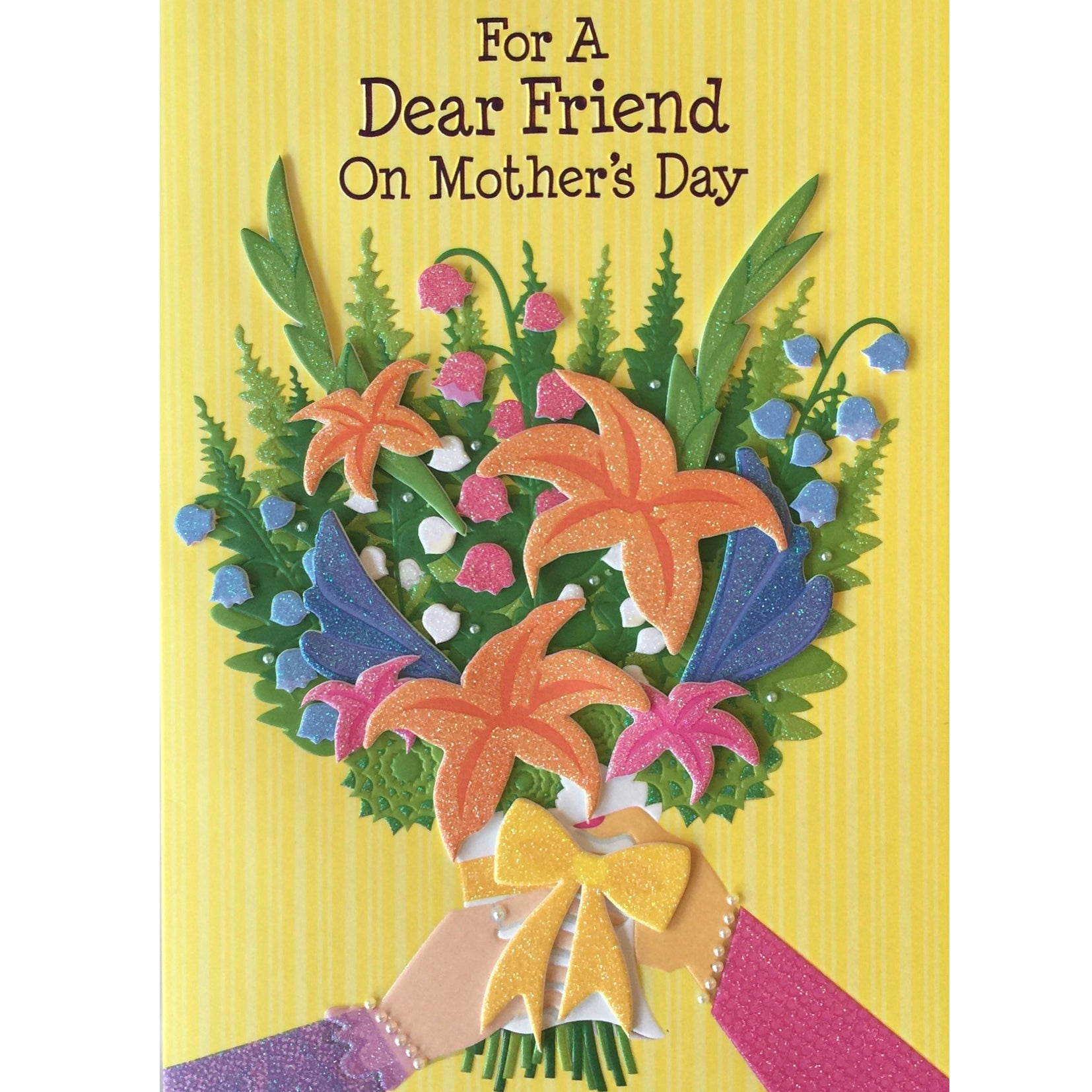 """For a Dear Friend on Mother's Day"" Greeting Card"