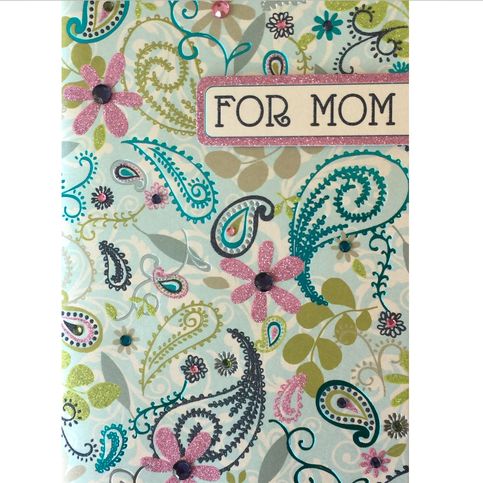 """For Mom"" Floral Greeting Card"