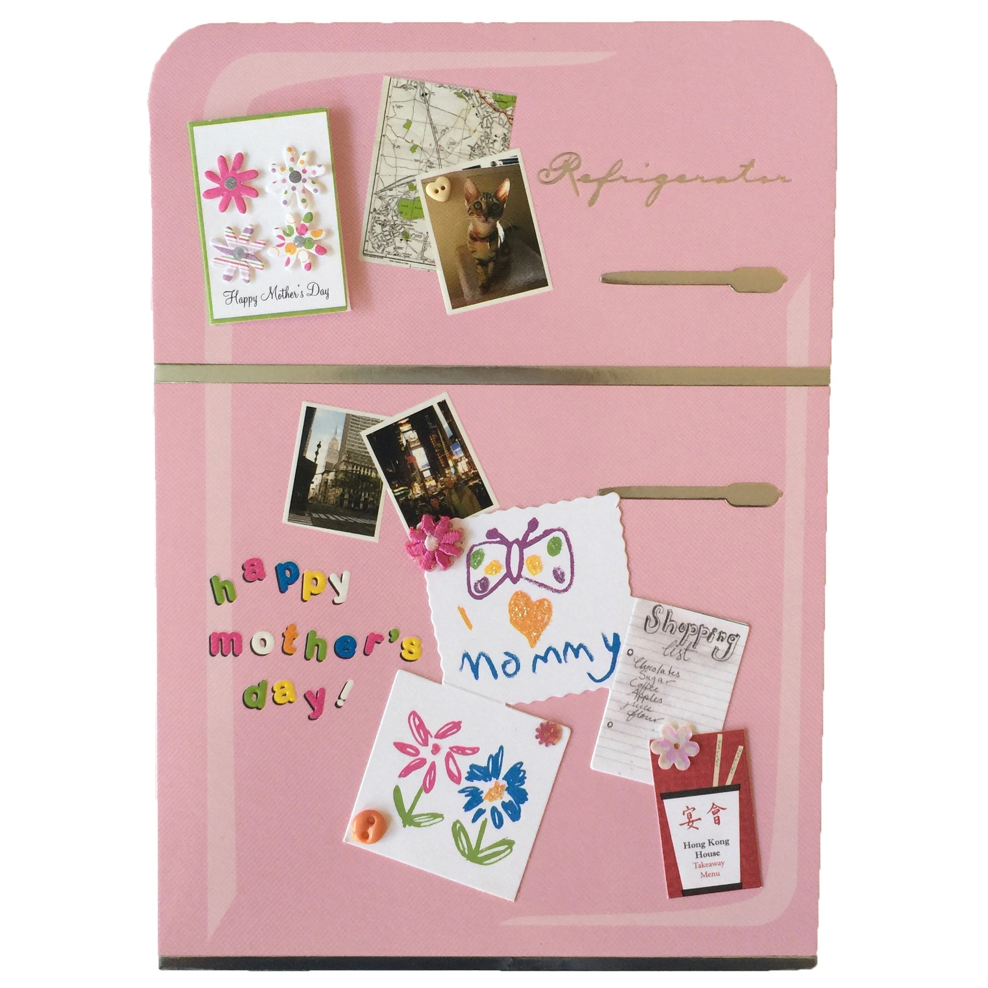 "Meri Meri ""Happy Mother's Day"" Pink Refrigerator Greeting Card"