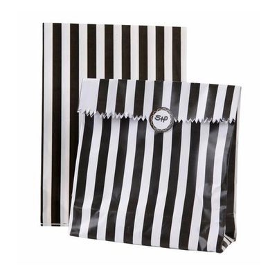 Black & White Stripe Treat Bags