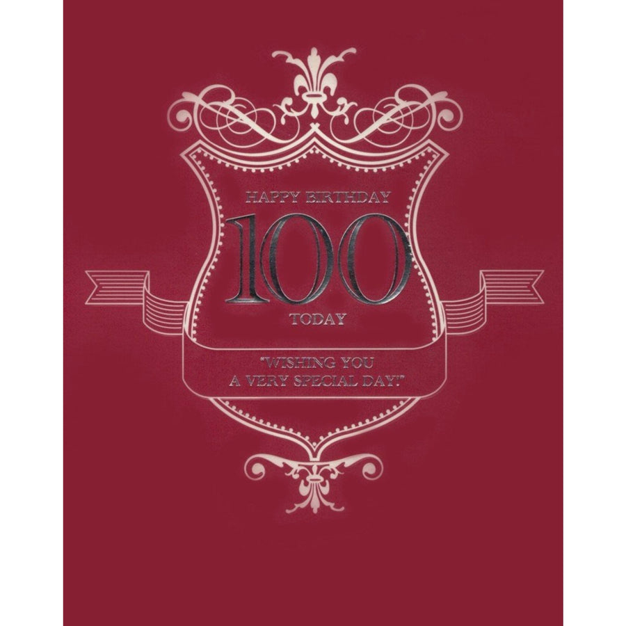 """Happy Birthday 100 Today"" Card"