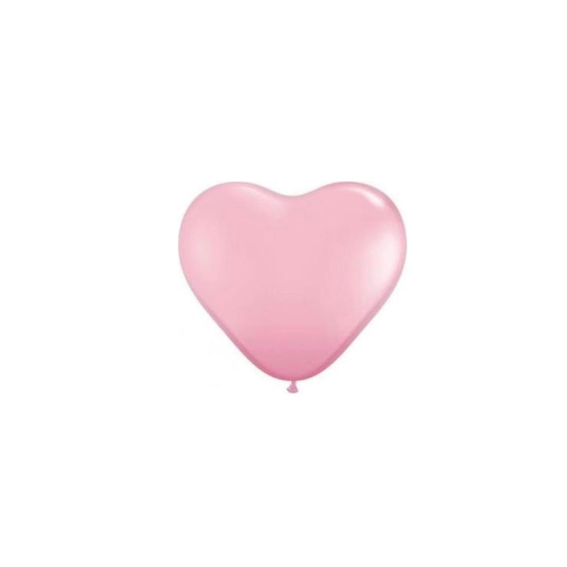 Pearlized Heart Balloons - Pink 6""