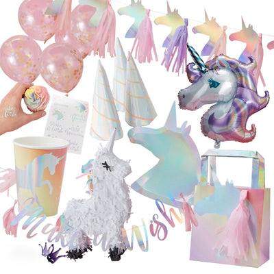 """Make a Wish"" Iridescent Foiled Unicorn Temporary Tattoos"