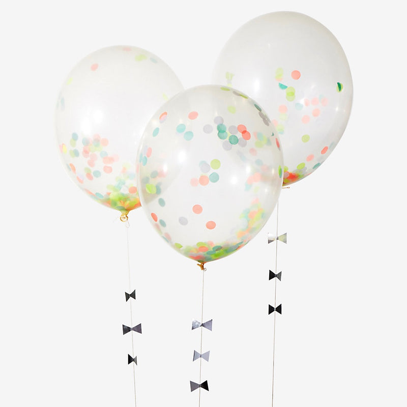 Meri Meri Confetti Balloon Kit - Neon -  Party Supplies - Meri Meri UK - Putti Fine Furnishings Toronto Canada - 1