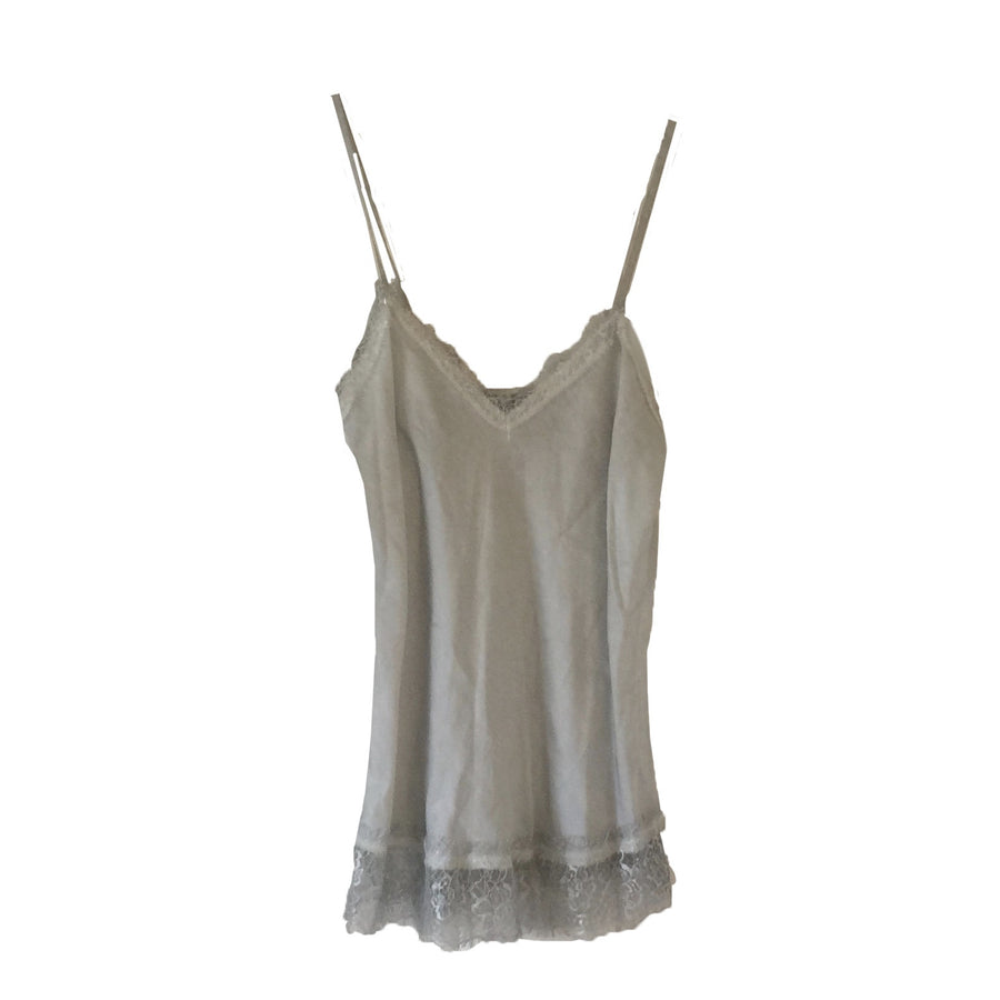Hand Dyed Camisole with Lace - Silver, TO-Terminal One, Putti Fine Furnishings