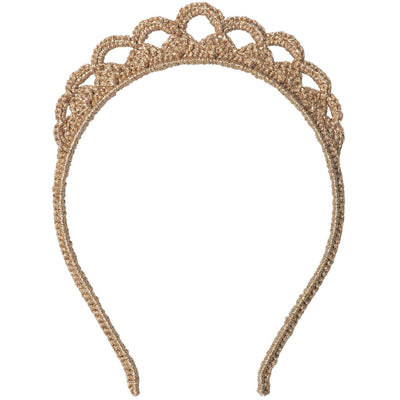 Maileg Gold Crochet Tiara in Gift Box