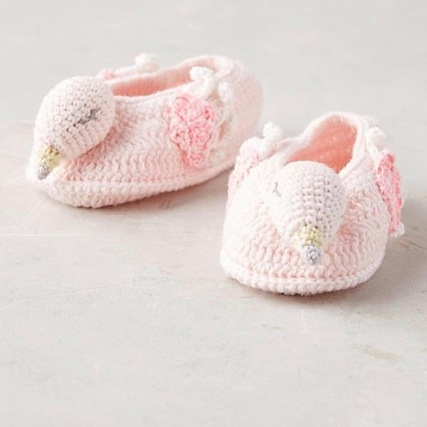 Albetta Crochet Flamingo Booties, AUK-Albetta UK, Putti Fine Furnishings