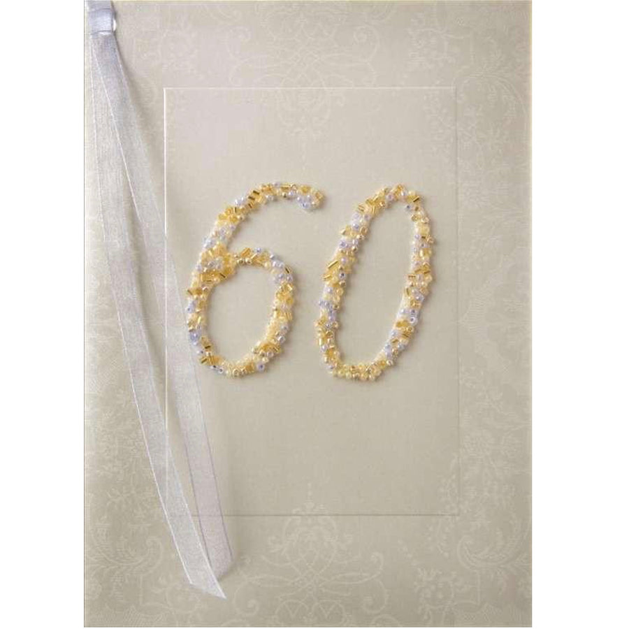 Meri Meri Beaded 60th Birthday Card