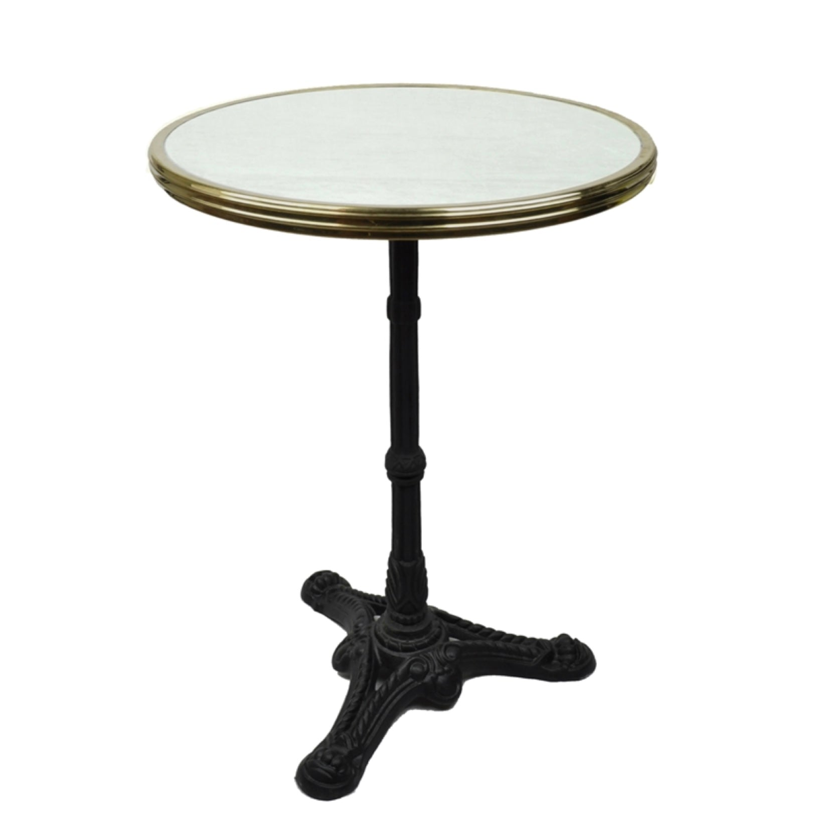 Absinthe Bistro Table - White Marble 20""