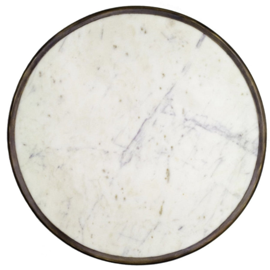 Absinthe Bistro Table - White Marble 24""