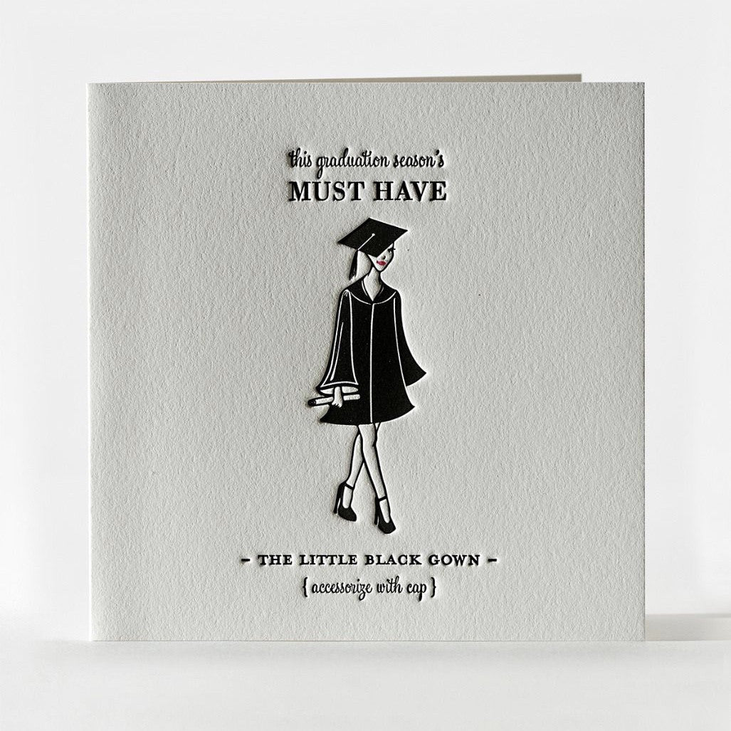 Little Black Gown Greeting Card, ED-Ellum Design, Putti Fine Furnishings