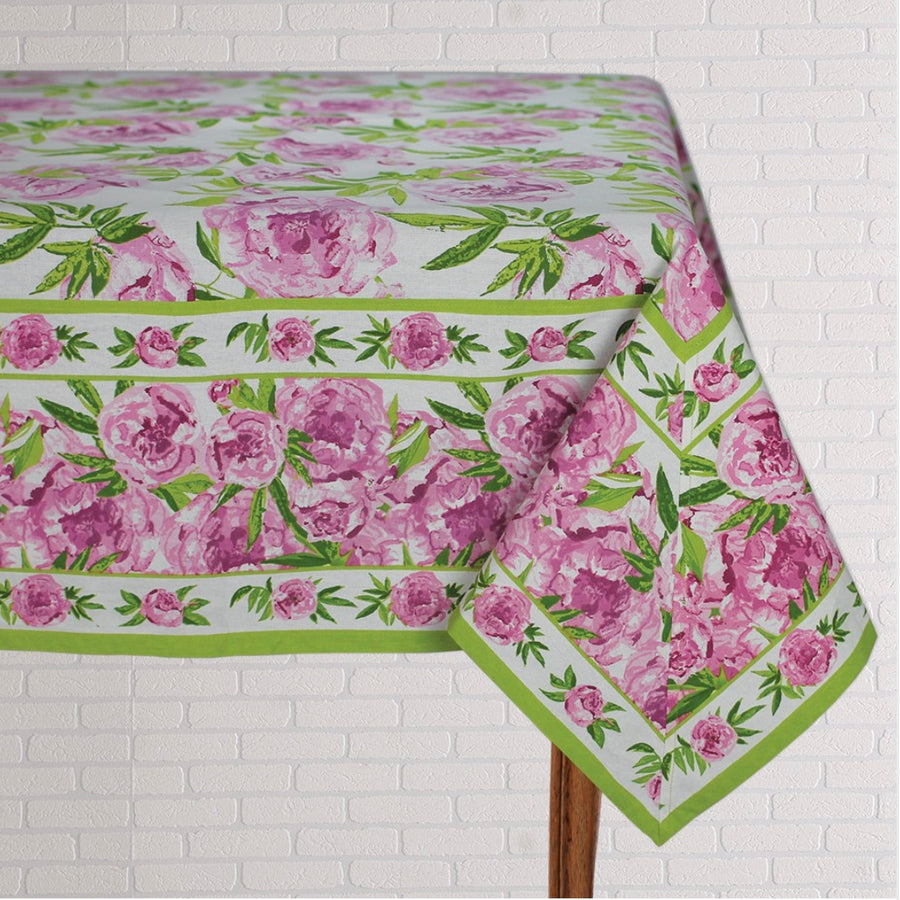 Pink Peony Table Linen