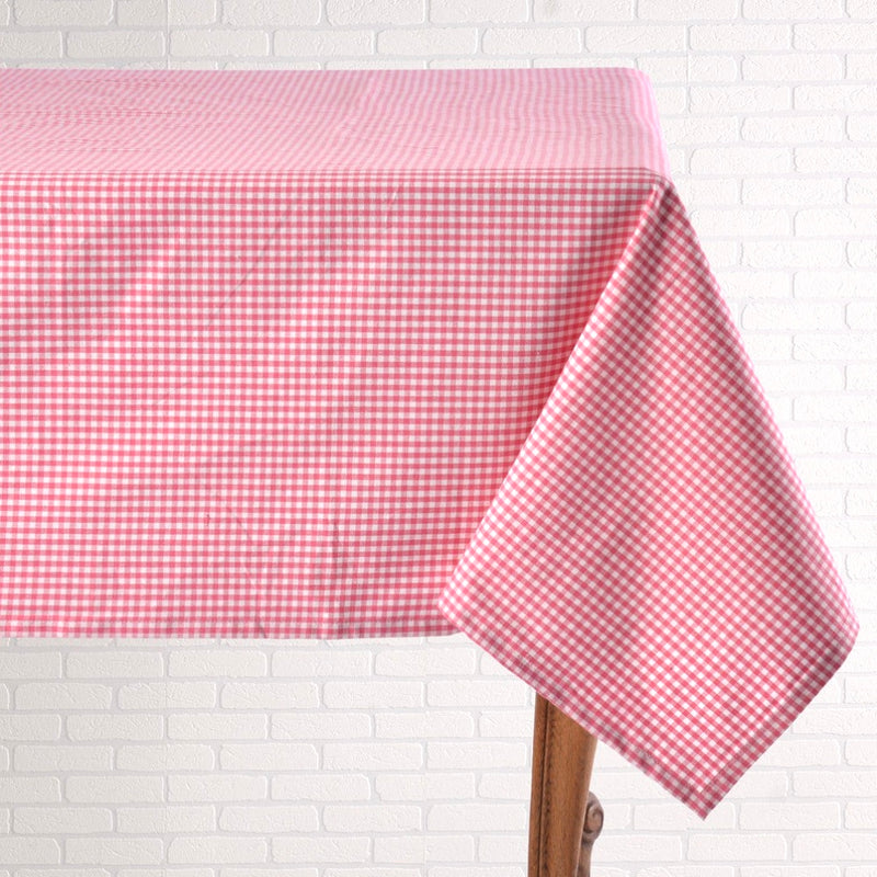 Pink Gingham Table Linen