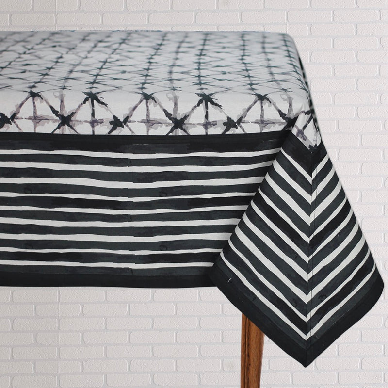 Shibori Black Table Linen