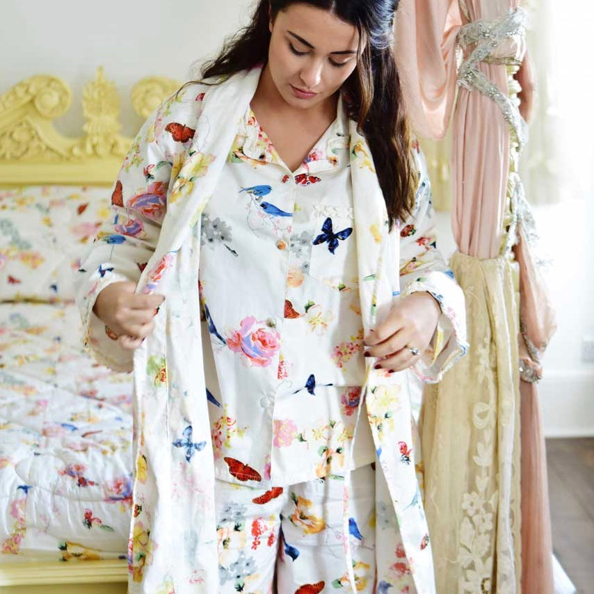 """Secret Garden"" Ladies Dressing Gown, PC-Powell Craft Uk, Putti Fine Furnishings"