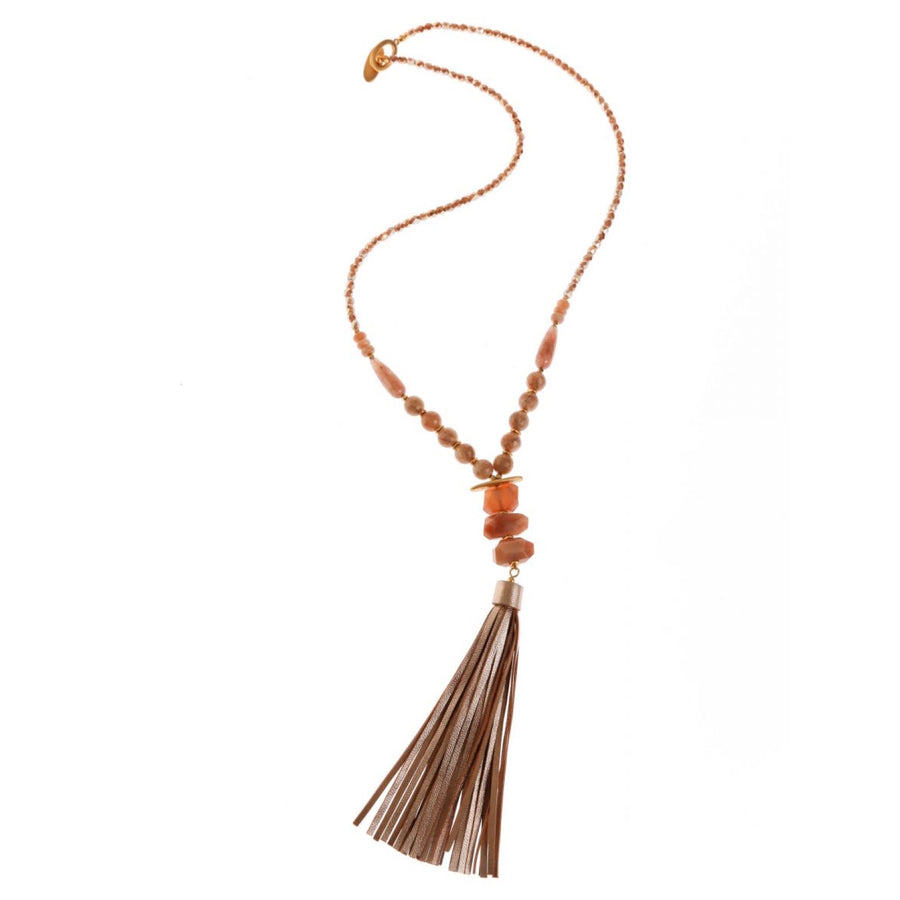 Pranella Rose Tassel Necklace
