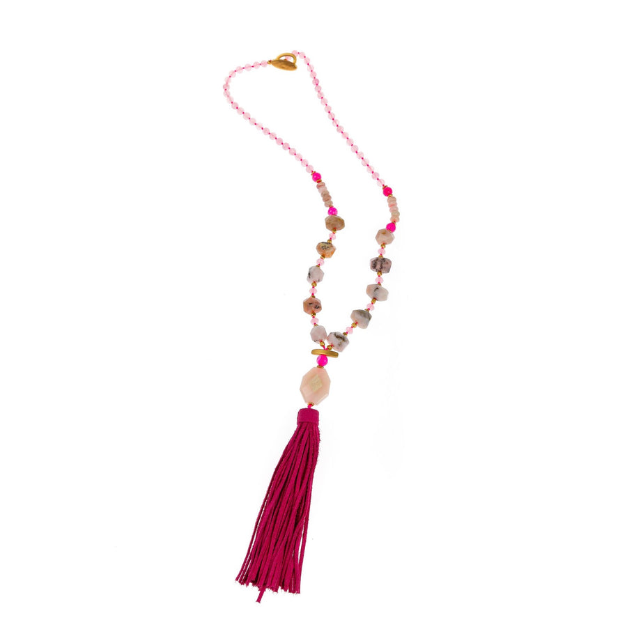 Pranella Candice Rocky Tassel Necklace