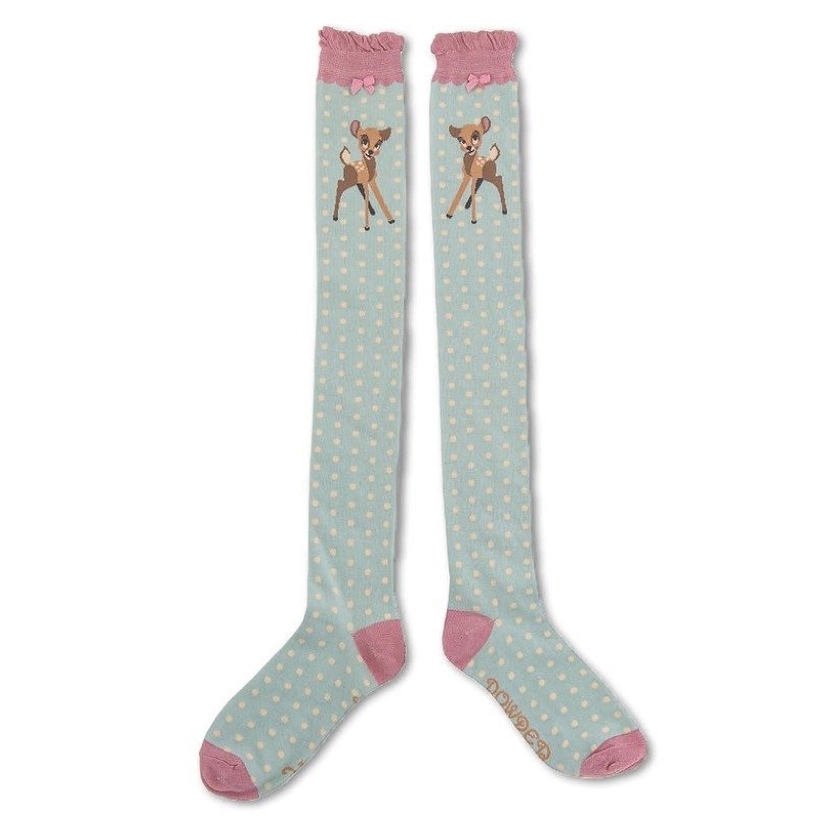 "Powder ""Bambi"" Long Socks - Ice Blue"