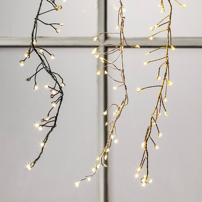 Spray LED 240 Lightstring with Branches - Gold